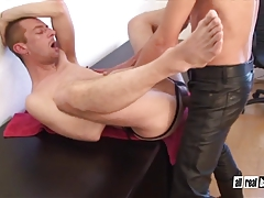Cumhungry Hole Breeded by Well Suspended Leather Daddy