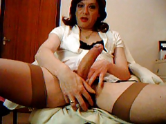 transvestite retro tights man-meat and ball play