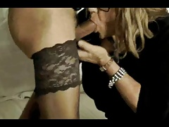 mature crossdressers having some deep-throating fun