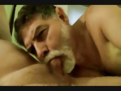Silver daddy blow-job
