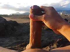 masturbation beach in front 2 nymphs with