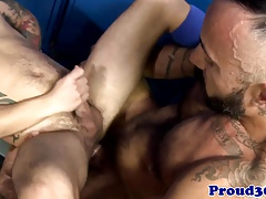 Mature coach assfucking lockerroom boy