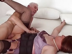 old stud porks crosdresser and gives him a facial cumshot