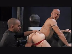 Insatiable red jockstrap Pink hole Guys Bi-atch