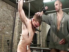 S&m & s/m  faggot boy strapped drilled 2 schwule jungs