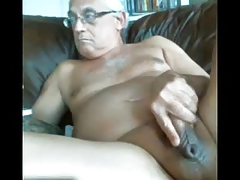LikeAOlder Grandpa 61 y d jacking off his hefty shaft and