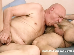 Hairy  Pummel His Shaved Mature Lover