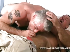 sizzling and unshaved mature daddies fuckin' each other