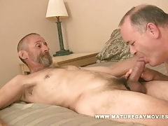 Chubby Silverdaddy Gets Pummeled By  Buddy