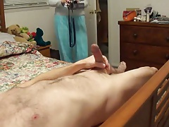 Stroking off in front of my Wife: CFNM