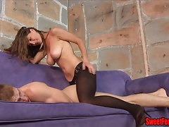 Molly Plows Her Cuck PEGGING Belt dick  Tights