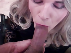 light-haired suck off and cumshot