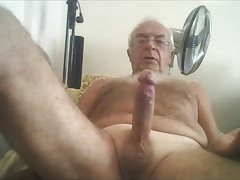 Silver  grandpa jerk and jizz
