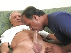 Indian  sucking hefty older prick