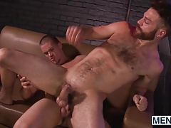 Adam pokes Tommy Defendis super hot fur covered