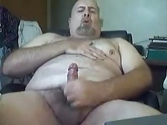 Lush father grizzly stroking 2