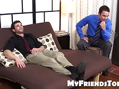 Cameron gives his pal Cole a soothing  rubdown