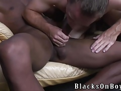Black guys sharing the rump of a white guy