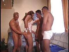 Guys in Hungary pound girls, each other and an old