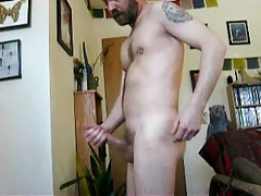 Dad hunk milking and jizzing 6