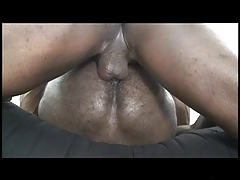 2 dark-hued homosexual folks with hefty firm stiffys enjoy to poke each others'  backsides