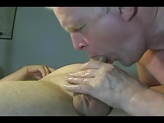 Homemade grandpa blow-job is steaming