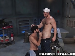 RagingStallion  Seamen Anal invasion at River