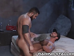 RagingStallion Swole Latino Drills  in Alley