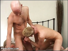 Youthfull cockteaser gets his  pounded by old dude