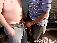 Nasty dark-hued stud yearns for a meaty  prick to gulp