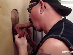 Blue  Gloryhole Blowage