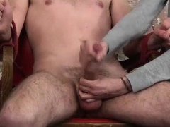 Fag porno of twunks jacking with fur covered chested men