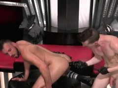 Fellow penetrates queer fuckfest gals  Aiden Forest is on his back