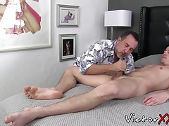 Insane and naughty hunks take turn  each others penises