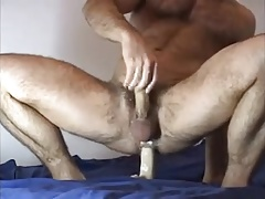 Muscle otter rails fuck stick & blows a load