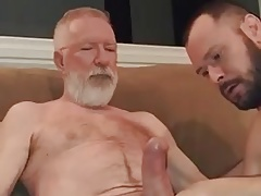 Gargling old dudes enormous shaft