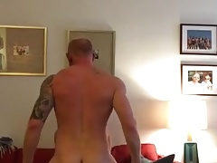 warm ginger bangs muscle hunk
