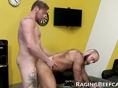 Unshaved and bearded wolf no condom  by his hottest buddy