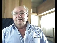 grandpa demonstrate on webcam