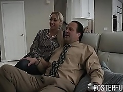 Foster Parents Compliantly by Teen Call forth Daughter's Pussy