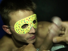 Masked euro stripper assfucked doggystyle