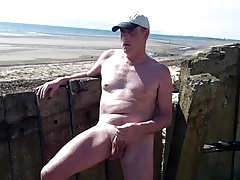 big fuck-stick  and shoots on the beach