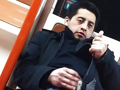 weirdo wants to show off to the femmes in the subway