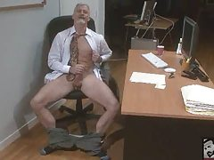 Jaw-dropping  Grandpa Striking his meat at the Office 'work'