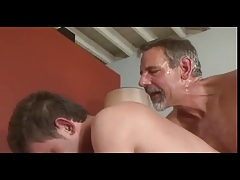 grey BEARD old father Jay Taylor KISS eat Poke youthful