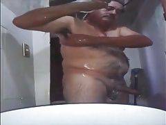 Str8 pakistani dad shower time