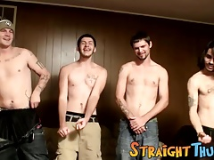 tatted studs demonstrating fuck-sticks masturbate off challenge