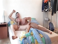 homo dad wakes up and  yummy  young dude